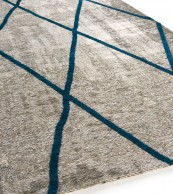 Brinker Carpets Cross Silver Blue