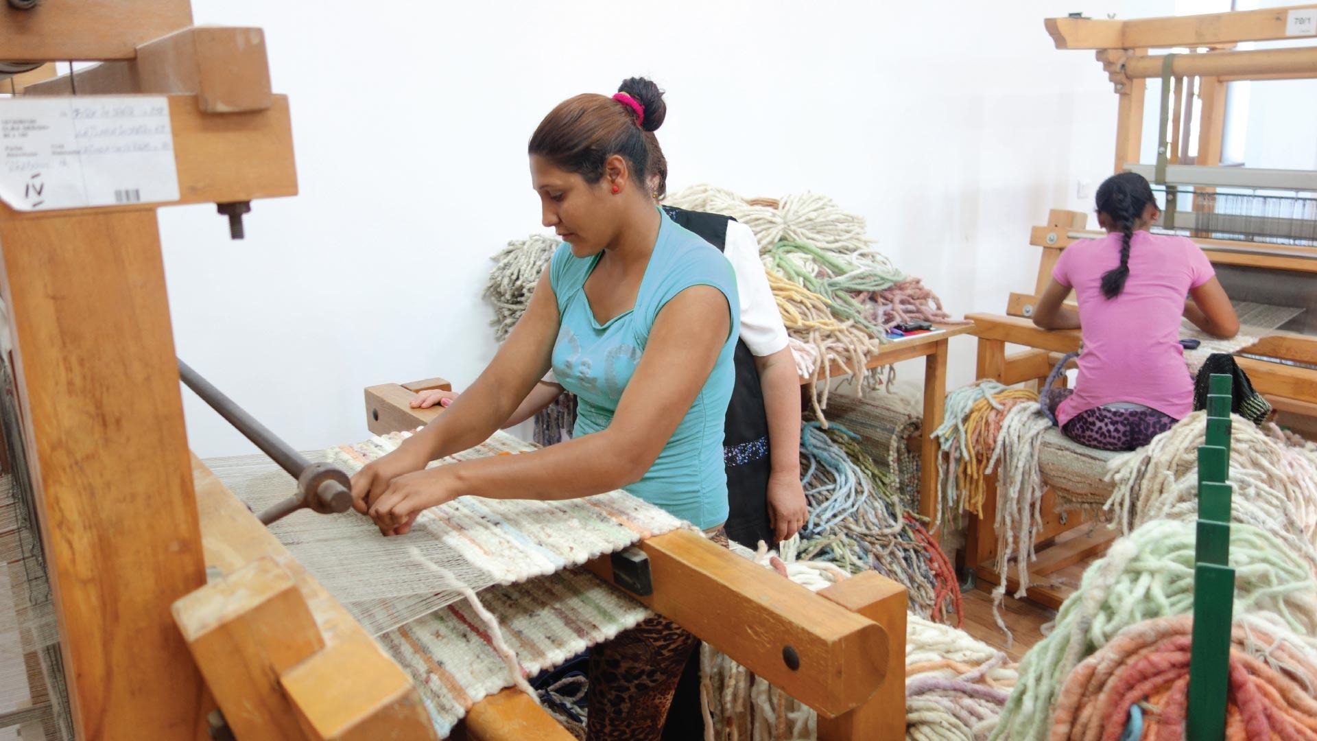 Brinker Carpets karpetten maken is hand arbeid